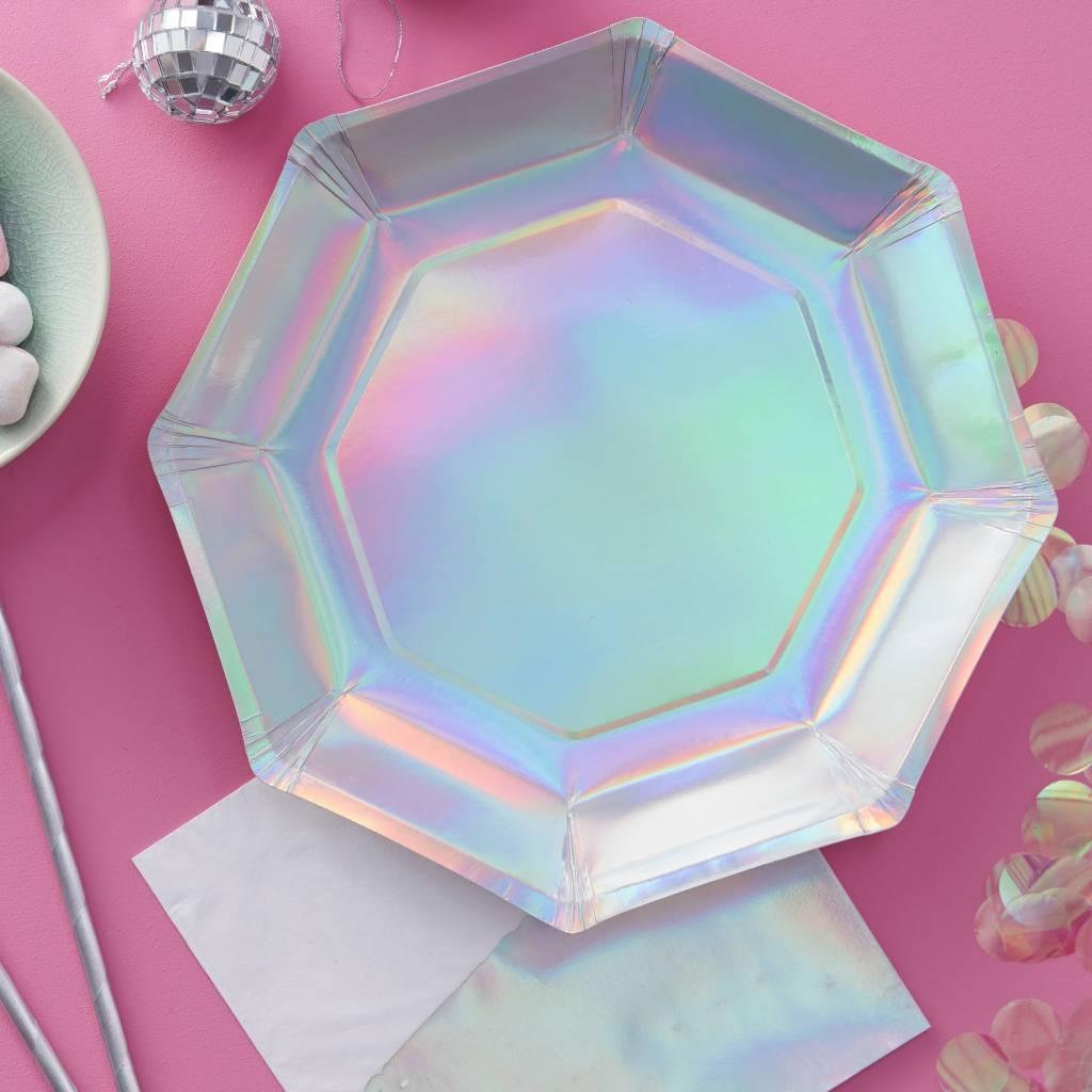 GINGERRAY Paper Plate - holographic
