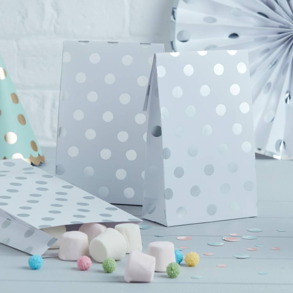 GINGERRAY Party Bags - Polka Dot - Silver