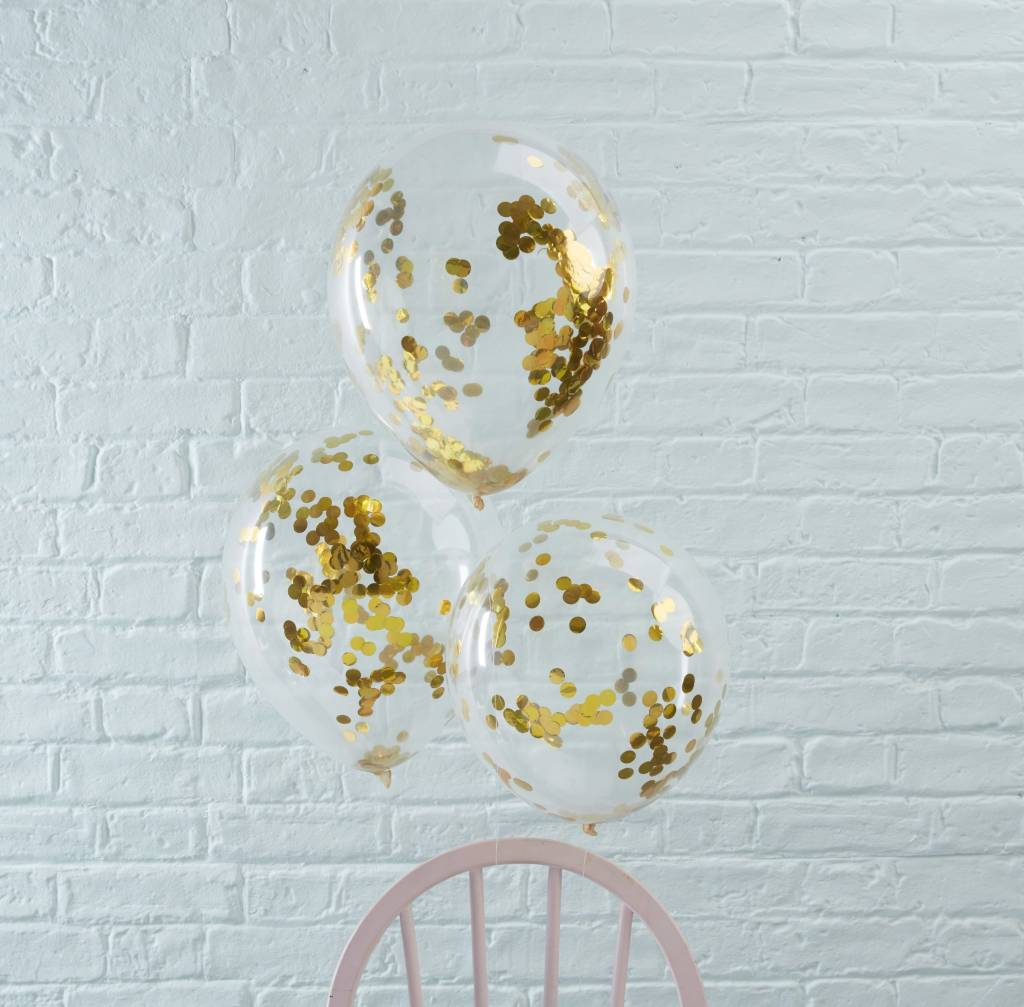 GINGERRAY Balloons - Confetti - Gold