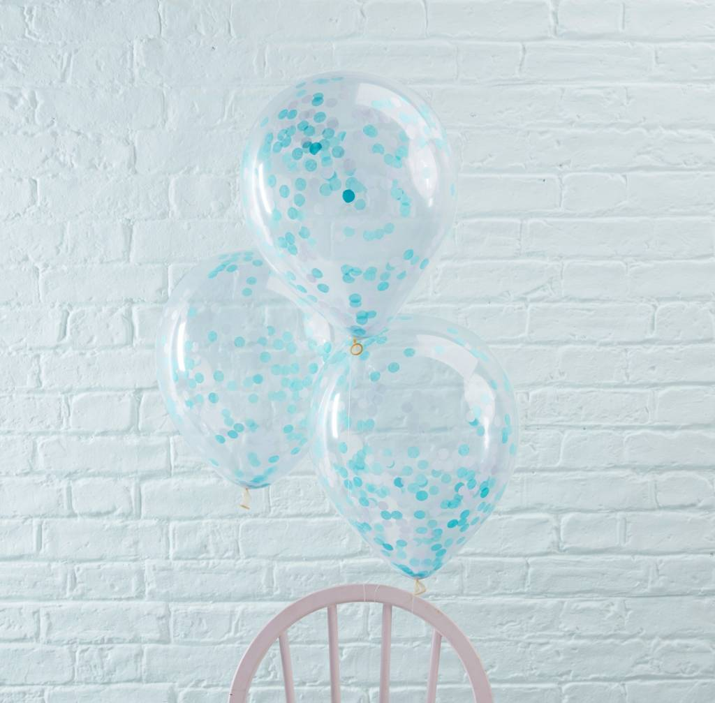 GINGERRAY Balloons - Confetti - Blue