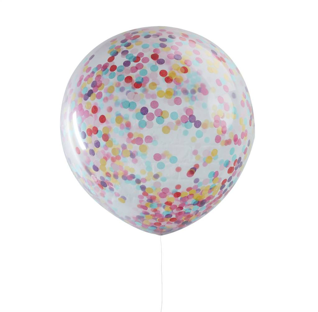 GINGERRAY Balloons - Huge Confetti - Multi-coloured