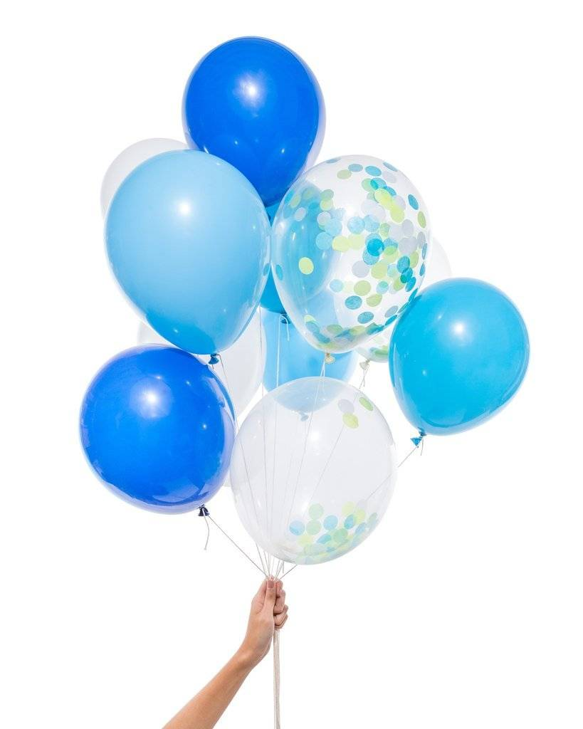 KNOT & BOW blue party balloons