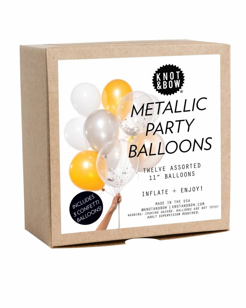 KNOT & BOW metallic party balloons