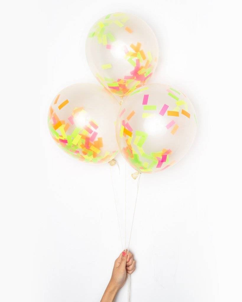 KNOT & BOW neon confetti balloons