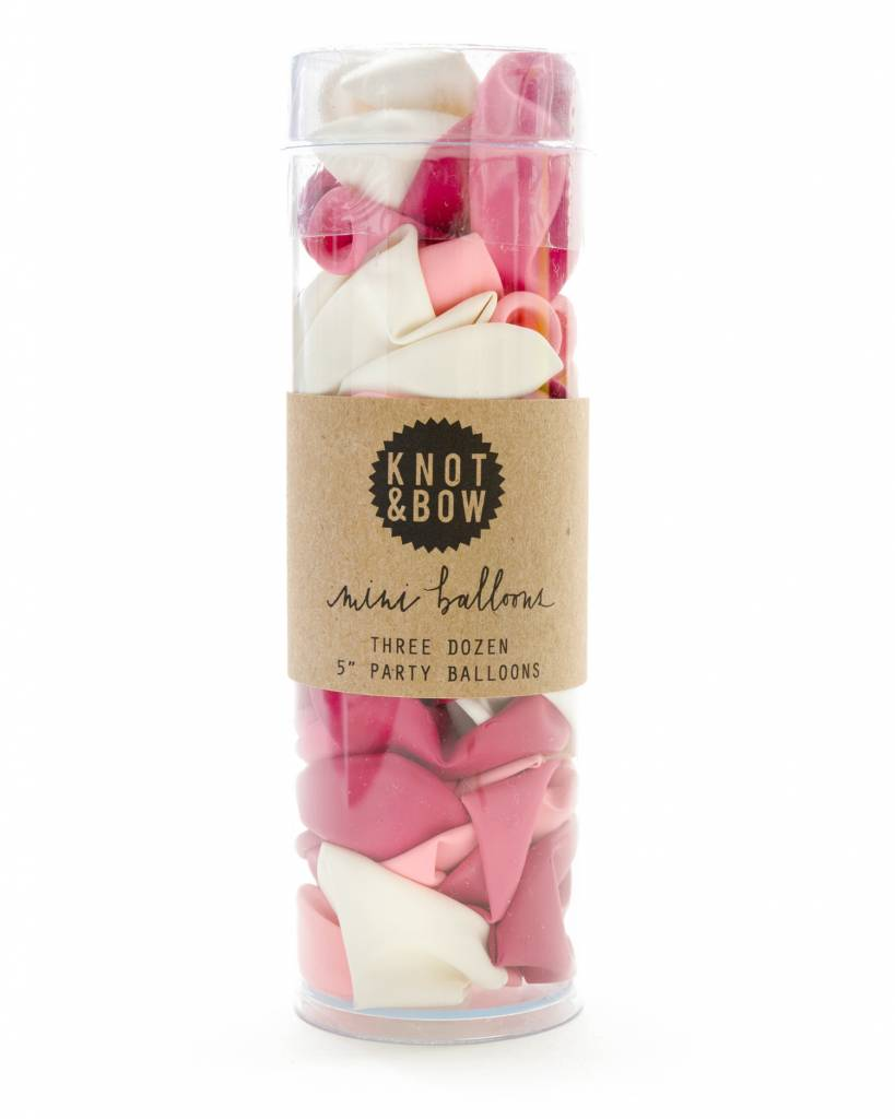 KNOT & BOW pink mini balloons