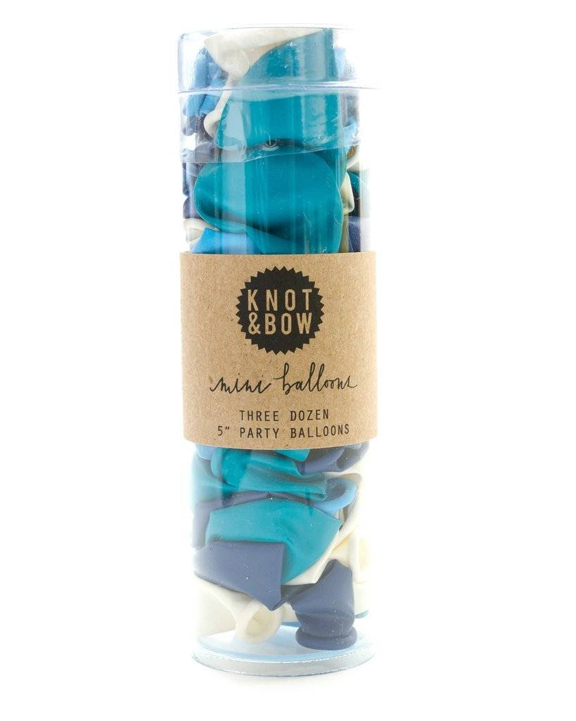 KNOT & BOW blue mini balloons