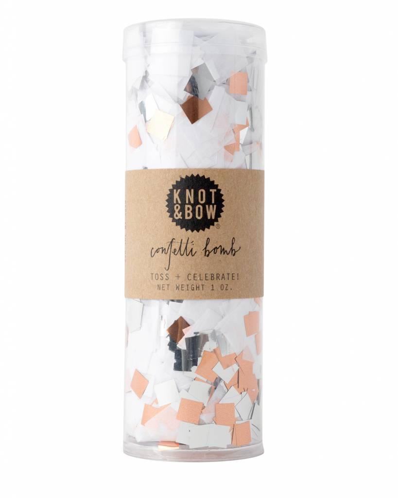 KNOT & BOW white copper confetti bomb