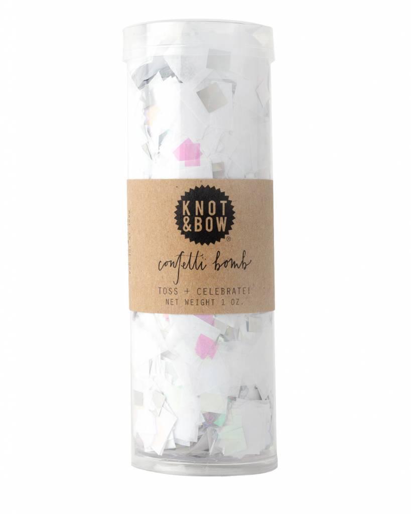 KNOT & BOW white iridescent confetti bomb