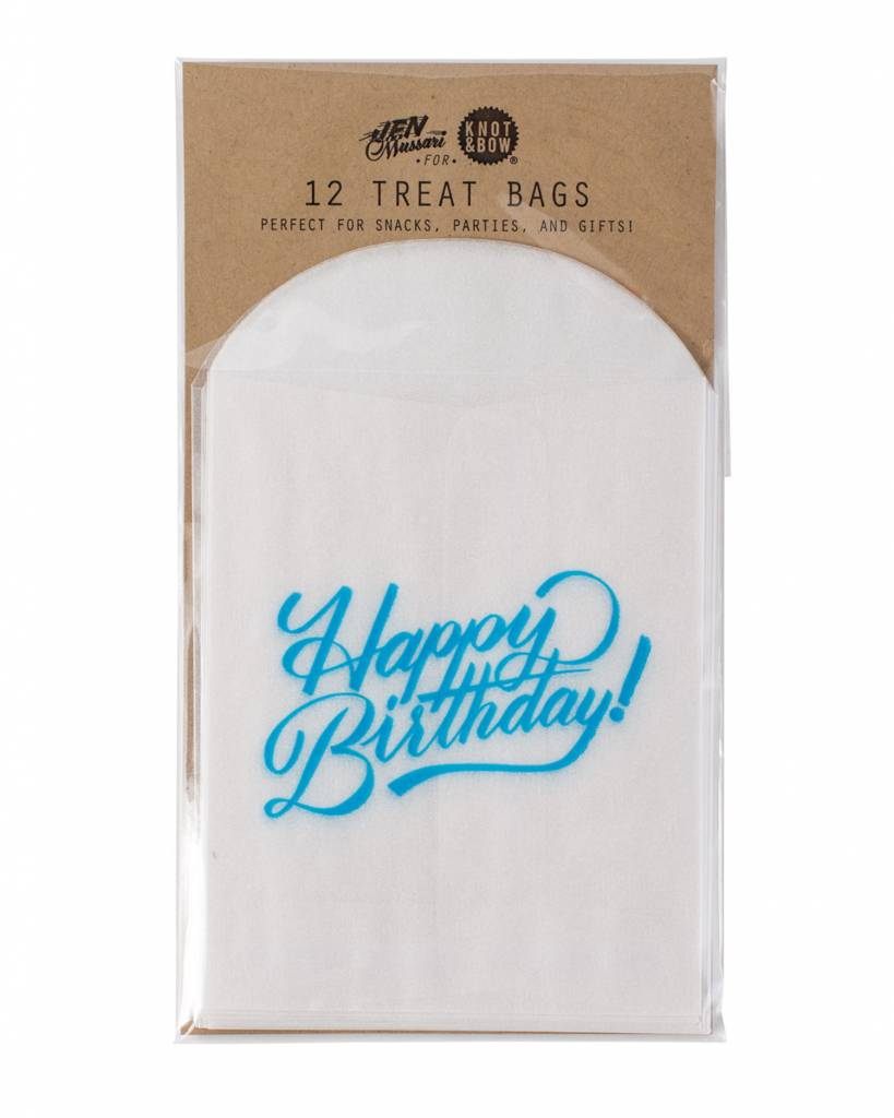 KNOT & BOW happy birthday glassine treat bags