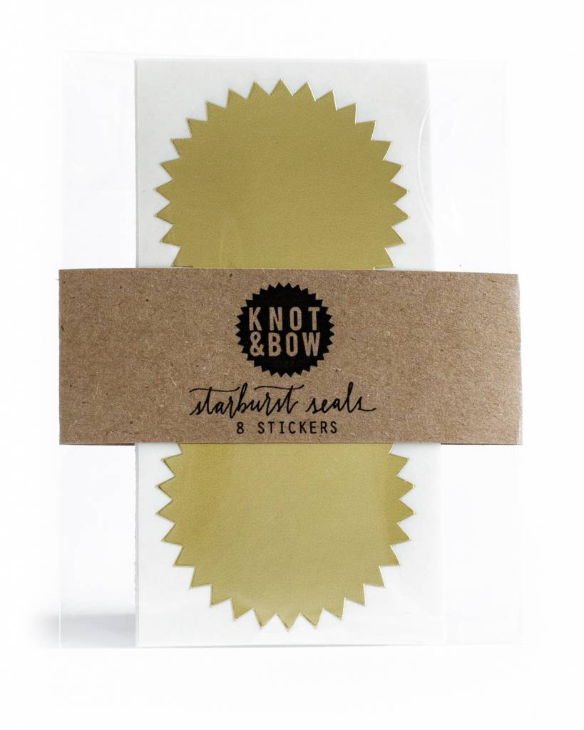 KNOT & BOW gold starburst seals
