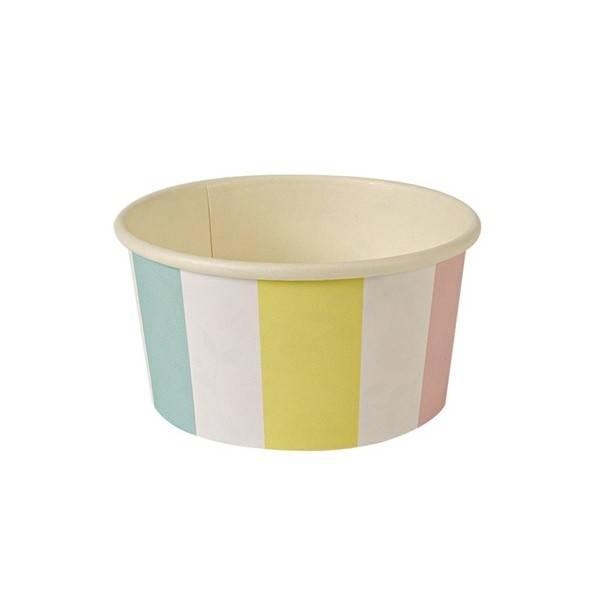 MERIMERI Toot sweet stripe ice cream cup