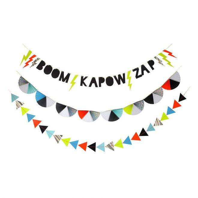 MERIMERI Zap! party garland
