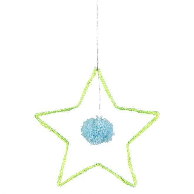 MERIMERI Wire and wool star decoration