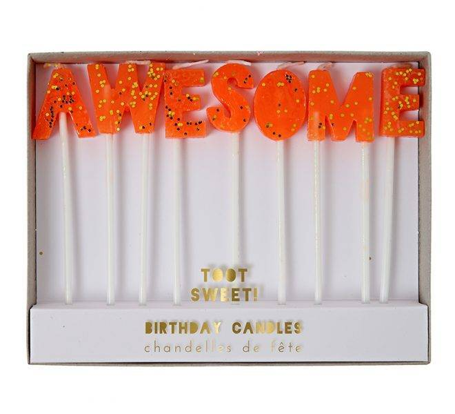 MERIMERI Toot sweet awesome candles