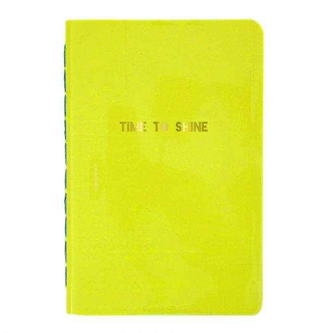 MERIMERI Time to shine yellow notebook