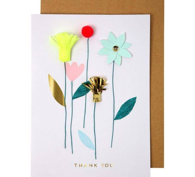 MERIMERI Thank you flowers card