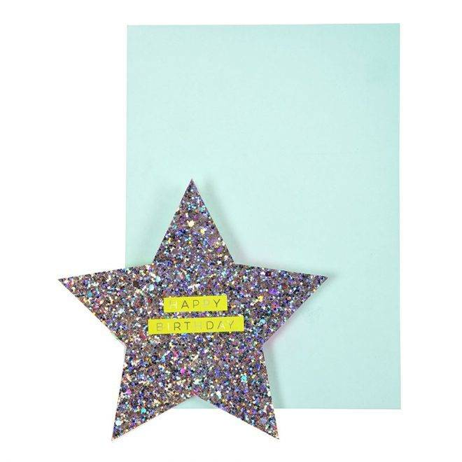 MERIMERI Star & rainbow card
