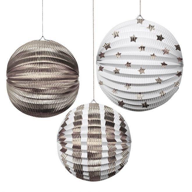 MERIMERI Silver foil globes