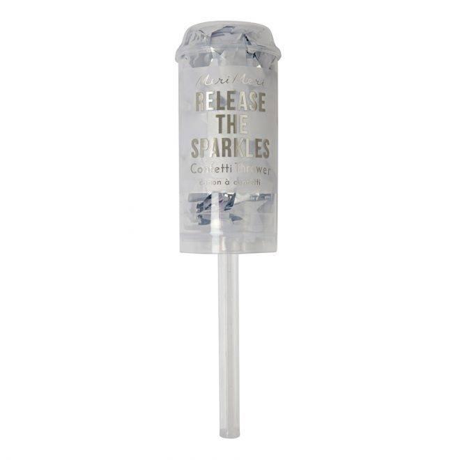 MERIMERI Silver confetti popper