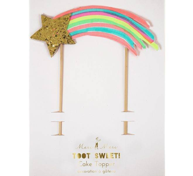 MERIMERI Shooting star cake topper