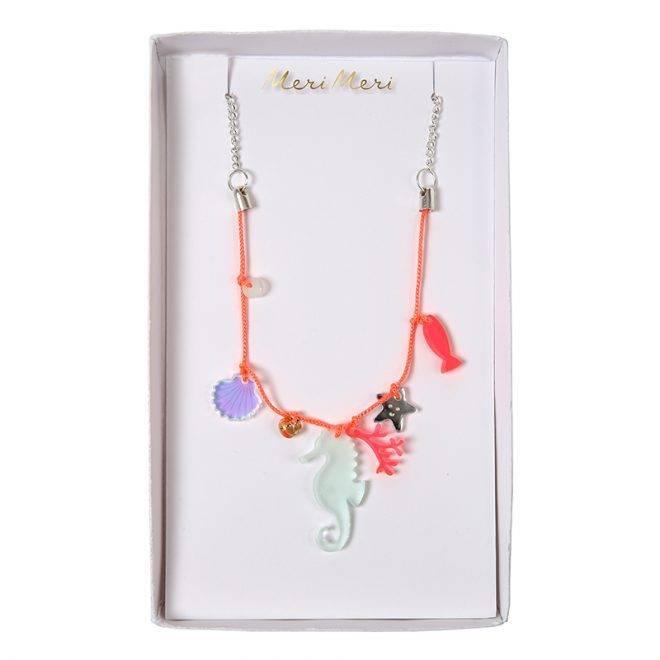 MERIMERI Sea creatures charm necklace