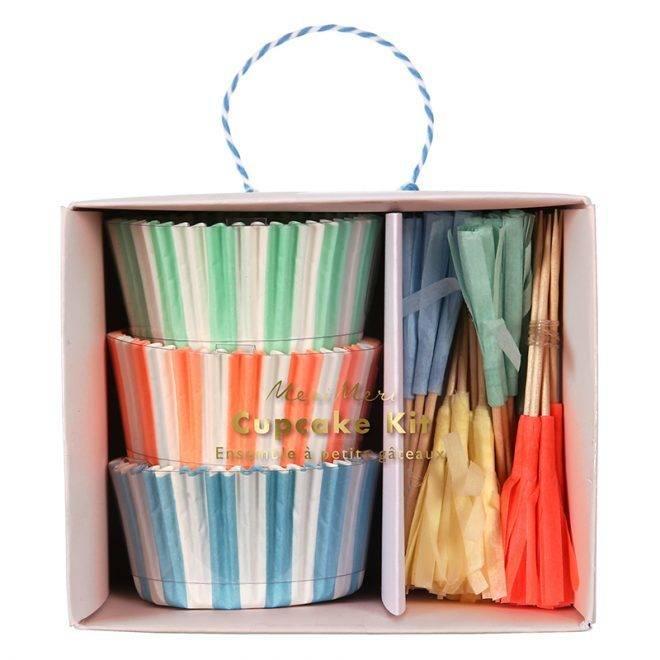 MERIMERI Pastel & tassel cupcake kit