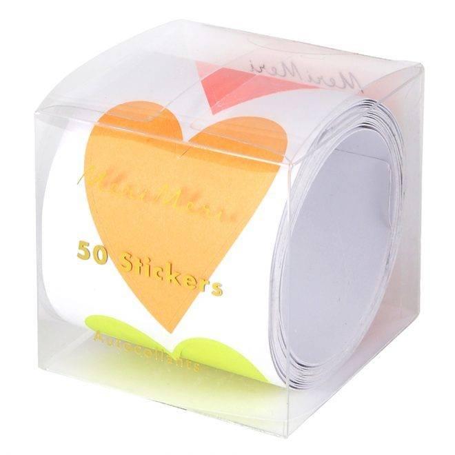 MERIMERI Neon heart stickers