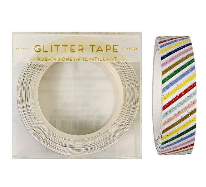 MERIMERI Multi-coloured stripes glitter tape
