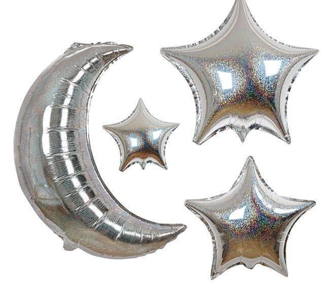 MERIMERI Moon and star balloons