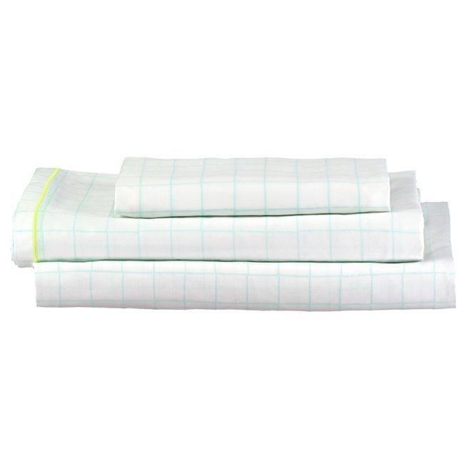 MERIMERI Mint grid single sheet set