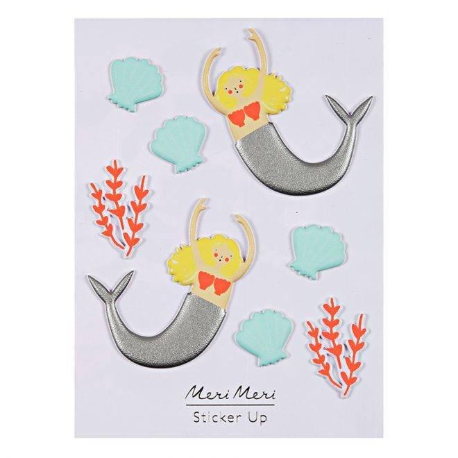 MERIMERI Mermaid puffy stickers