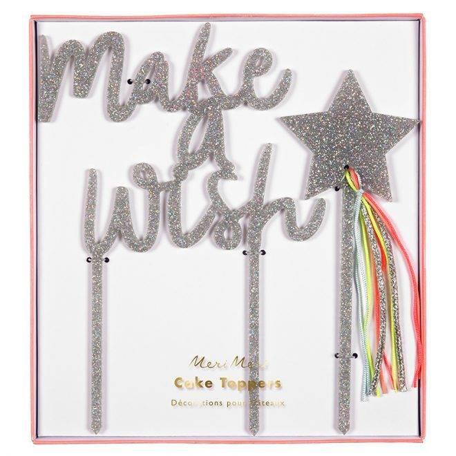 MERIMERI Make a wish acrylic toppers