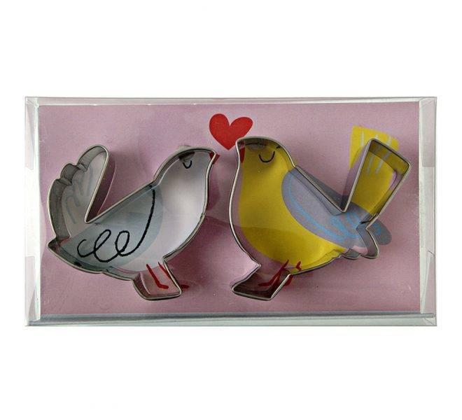 MERIMERI Love birds cookie cutters