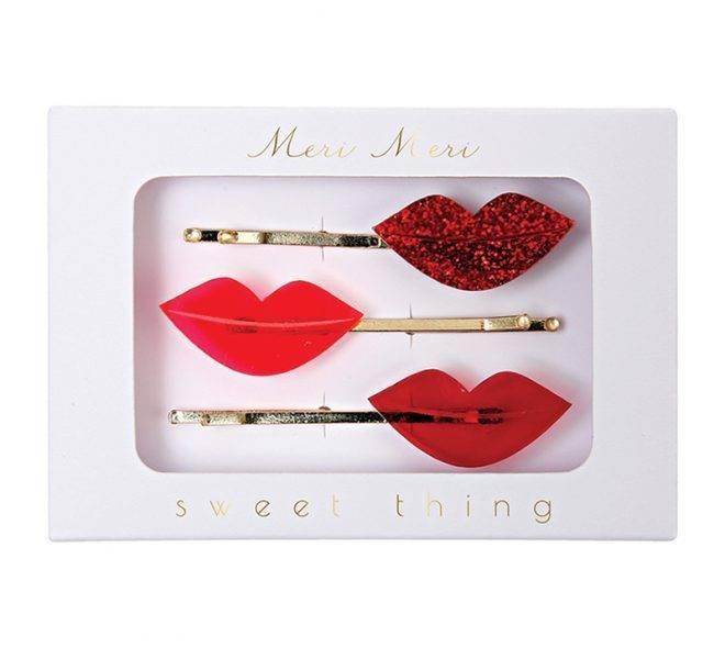 MERIMERI Lips hair pins