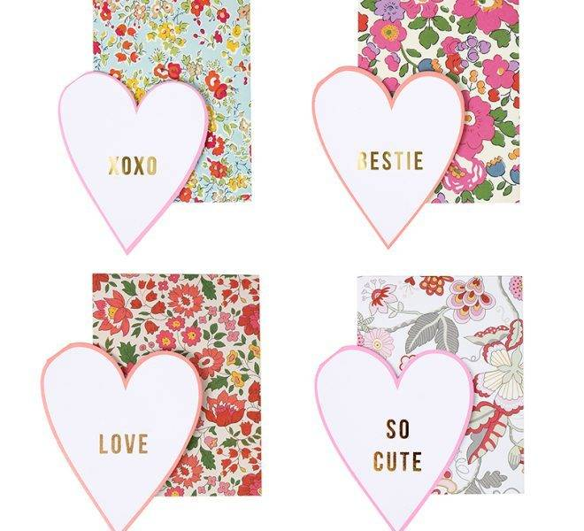 MERIMERI Liberty print love notes