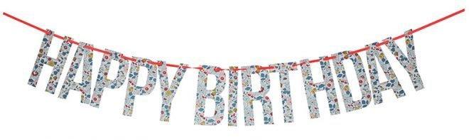 MERIMERI Liberty Betsy blue happy birthday garland