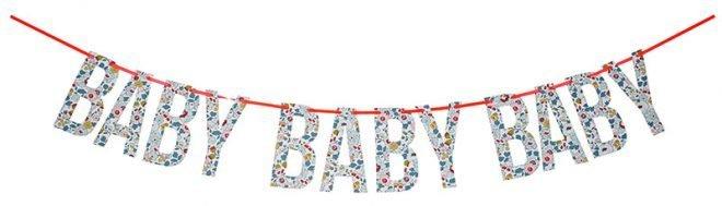 MERIMERI Liberty Betsy blue baby garland