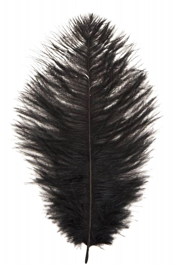MADAM STOLTZ Ostrich feather black
