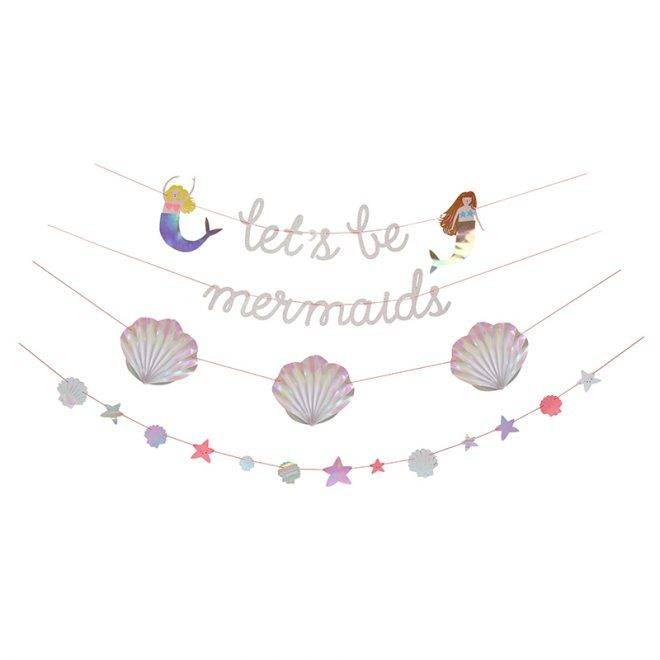 MERIMERI Let's be mermaids garland