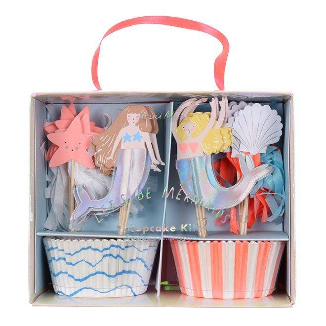 MERIMERI Let's be mermaids cupcake kit