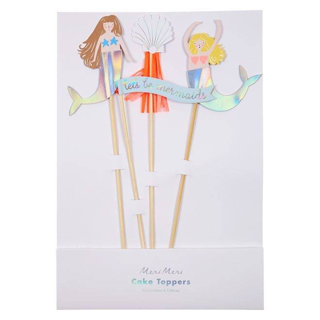 MERIMERI Let's be mermaids cake toppers