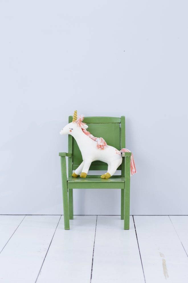 MERIMERI Knitted unicorn character cushion