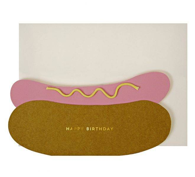 MERIMERI Hot-dog-birthday-card