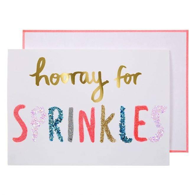 MERIMERI Hooray for sprinkles card