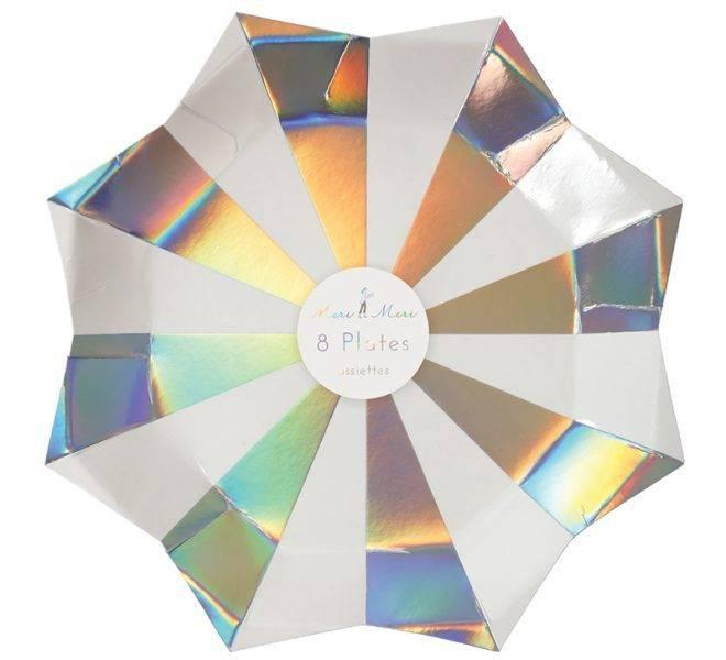 MERIMERI Holographic star large plates