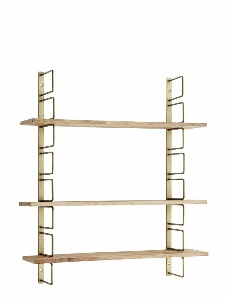 MADAM STOLTZ Wall rack w/ wooden shelfs