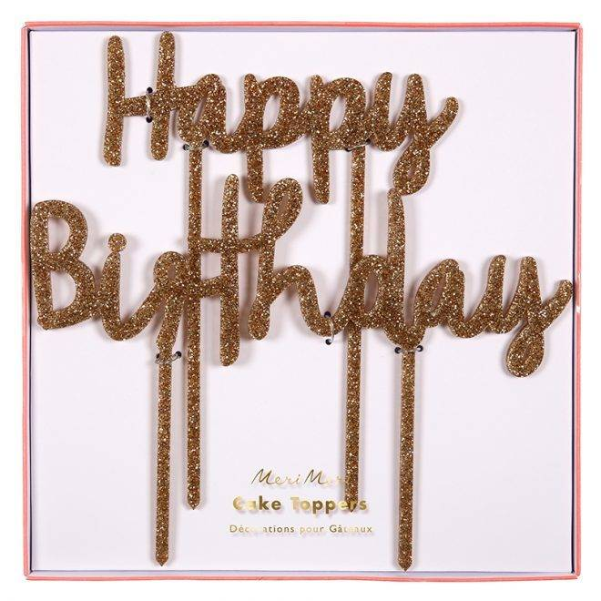 MERIMERI Happy birthday acrylic toppers
