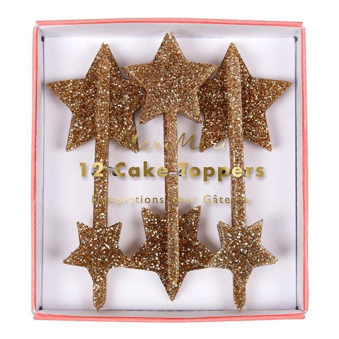 MERIMERI Gold star toppers