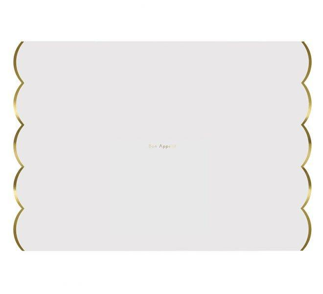 MERIMERI Gold foiled placemats