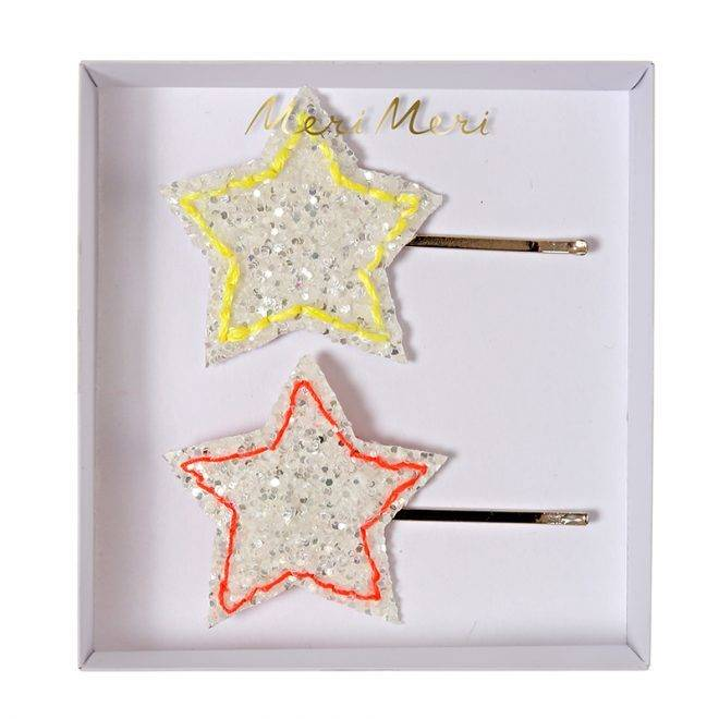 MERIMERI Glitter star hair clips